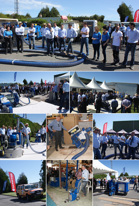 Image of the Blastrac open day about surface preparation in France