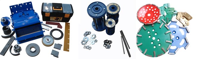 Image of Blastrac tools, spare parts and consumables