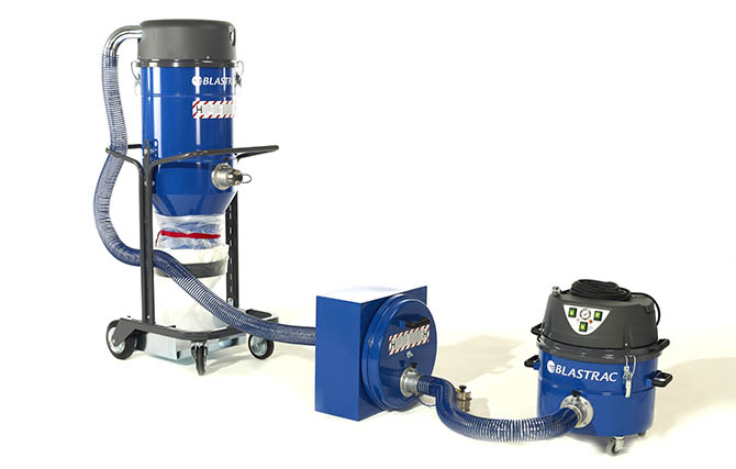 Blastrac HEPA dust collection system 138SPLIT
