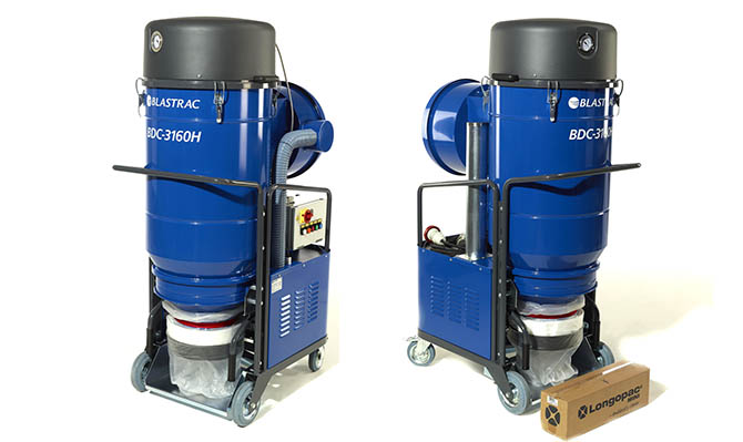 The blastrac HEPA 3160H Dust collection system
