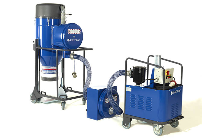 image of the Blastrac HEPA 3160SPLIT Dust collection system